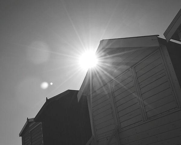 Sun Behind Beach Hut Beach Huts Day At The Beach Beach Beach Day Beach Photography Not A Cloud In The Sky Sun Light Sun Rays Sunny Day Seaside British Seaside Black And White Black & White Black & White Photography Black And White Photography Frinton-on-Sea United Kingdom Nikon D3200