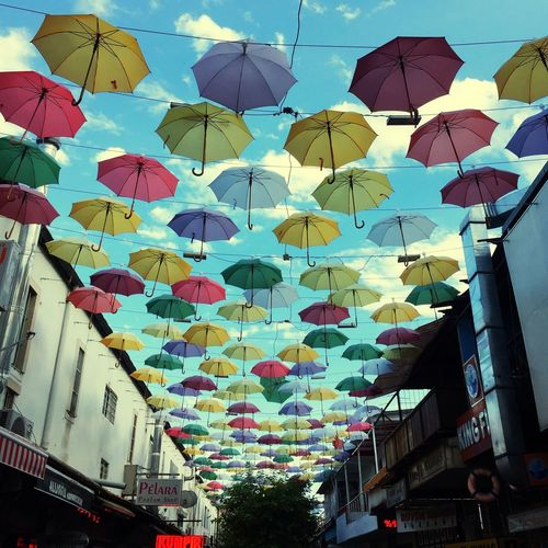 Multi Colored Umbrella Sky Colorful Decoration Renkler Gokyuzu şemsiyeler Antalya