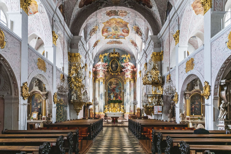 Advent in the churches of klagenfurt. austria.