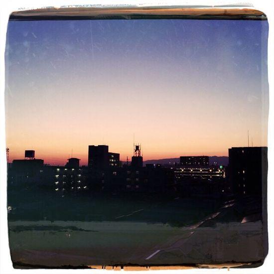 Sunset over Nishiyodogawa.