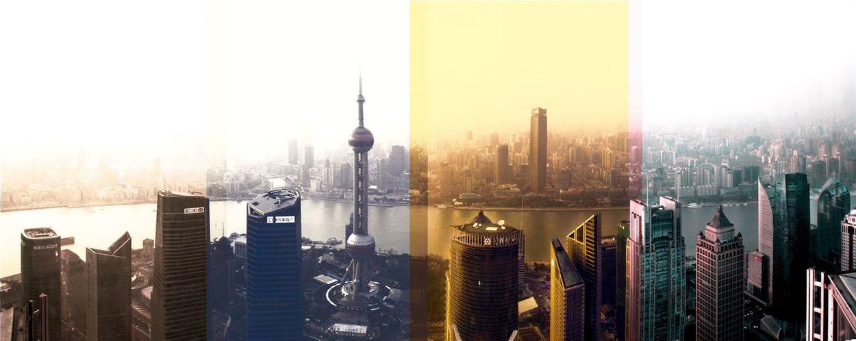 Shanghai, China Architecture Buliding Site Photoshop Edit