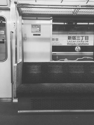 今日の始発電車。 Public Transportation Transportation Train - Vehicle Rail Transportation Mode Of Transport No People Subway Train Vehicle Seat Commuter Train Early Morning First Train First Train Ride Hello World