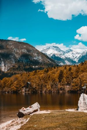 Bohinj and relax Slovenia Water Mountain Scenics - Nature Tree Sky Beauty In Nature Lake Nature Cloud - Sky Environment Tranquility Non-urban Scene Tranquil Scene Plant Landscape Outdoors No People Land Day Snow The Great Outdoors - 2018 EyeEm Awards