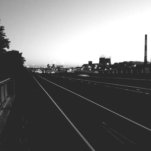 Railway Monochrome Shadow