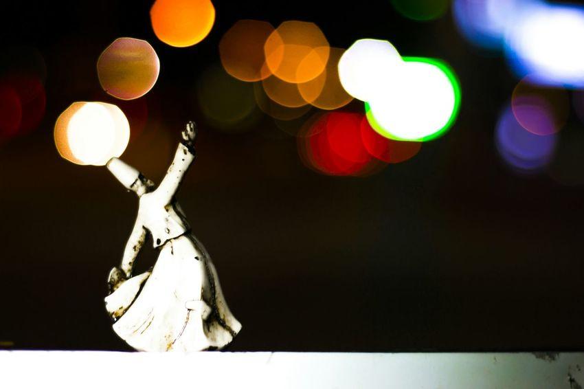 Night Photography Mevlana Derwish Dance Bokeh Semazen Sema Turkey Konya Colorful