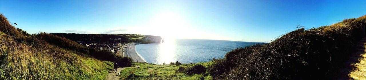 Colour Of Life France Blue Sky Sun Normandie Normandy étretat Open Edit Sunset