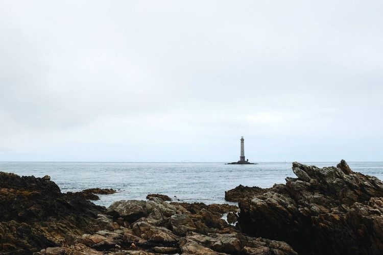 Le phare de Goury Nature Beauty Normandie Normandy Cotentin Goury Nautical Vessel Sky Building Exterior Seascape Coastline Ocean Rocky Coastline