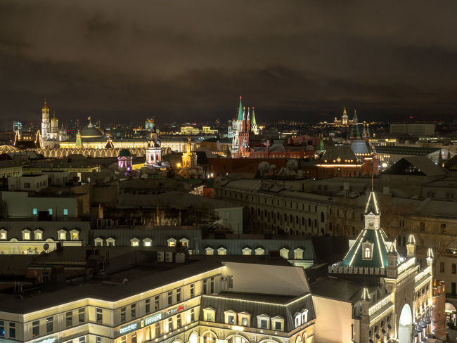 Russia, Moscow, the Kremlin, the Nikolskaya street, Lubyanka, the old center, travel, tourism Moscow Moscow, Russia Russia Russia россия Travel Architecture Building Exterior Built Structure City Cityscape Illuminated Night No People Outdoors Sky The Kremlin Tourism
