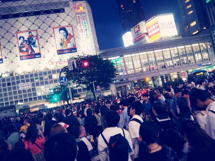 It's always crazy crowded at Shibuya Crossing on holiday like this.
