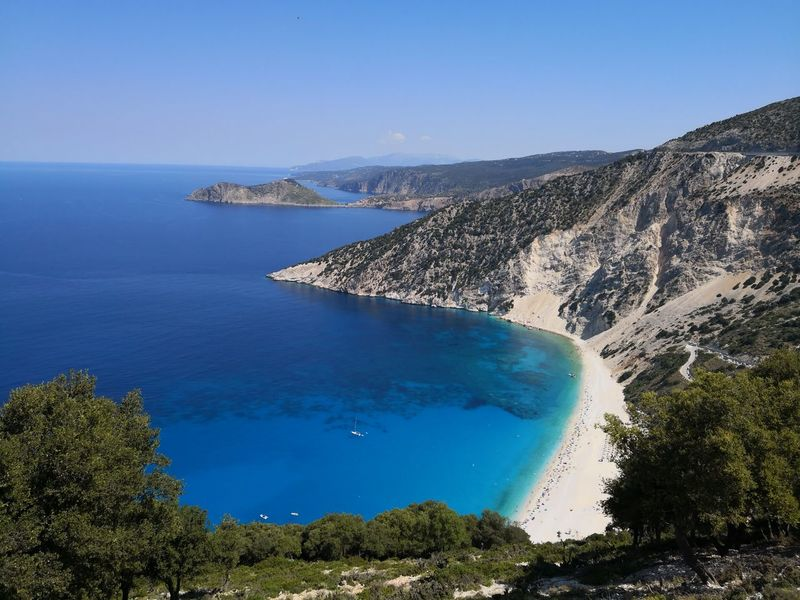Cephalonia Myrtos Beach Huawei Mate 10 Pro Water Sea UnderSea Tree Beach Blue Summer Clear Sky Island Sky