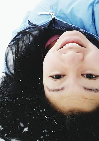 Relaxing Snow Fun Selfie