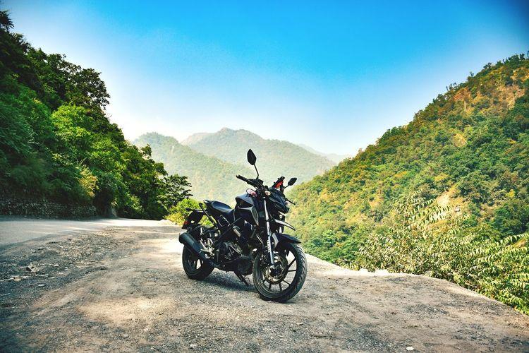 Yamaha on mountains