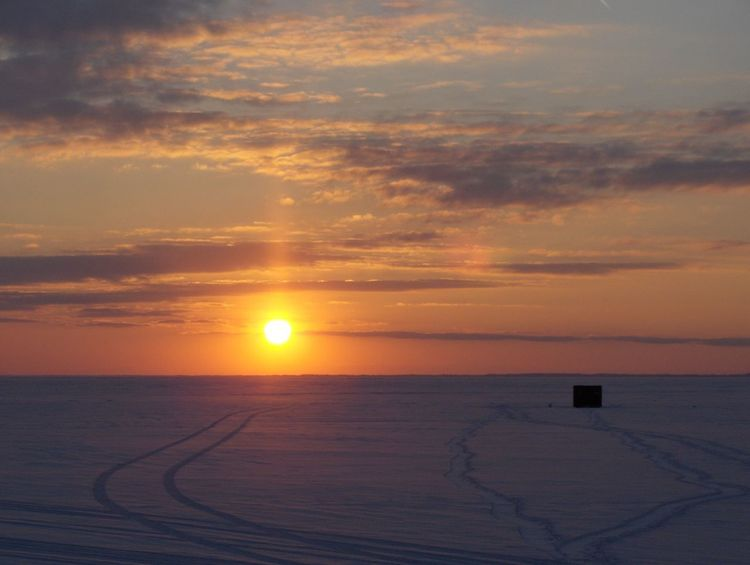 Ice Stunning Sunset Beach Beautiful Sunset Ice Snow Beauty In Nature Fishing Shanty Fishing Shanty On Ice Horizon Over Water Nature No People Outdoors Scenics Sea Sky Snow Sun Sunlight Sunset Sunset On Frozen Snow Covered Lake With Fishing Shanty Tracks Tranquility Water