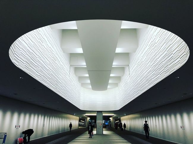 Japan NARITAAIRPORT Ceiling Illuminated Architecture Indoors  Built Structure Real People Modern Men Day People The Architect - 2018 EyeEm Awards