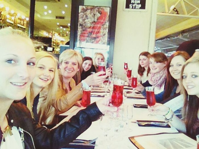Last night in Cannes :) we went out for dinner. drinking on a Great Week :P With My Classmates