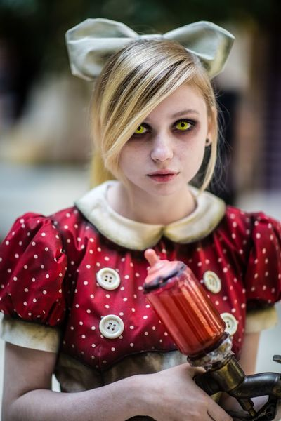Cosplay Game Bioshock Girl Little Sister