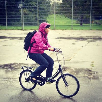 Rainy cyclingcourse, but still great, because being on a bike is always great. Well, at least almoust! ;-)