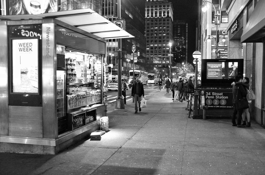 NYC Street Photography Architecture Built Structure Street Transportation Real People City Life Incidental People