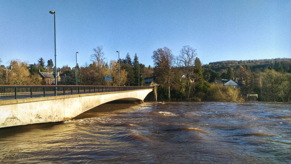 River Tay as high as I've seen it, Perth River My Town Urban Landscape Nature Flood
