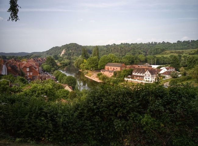 View from High Town High Severnvalley Severn River Bridgnorth Viewpoint
