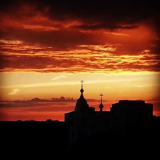 Cathedral Zhytomyr Ukraine Goldenskies sunset