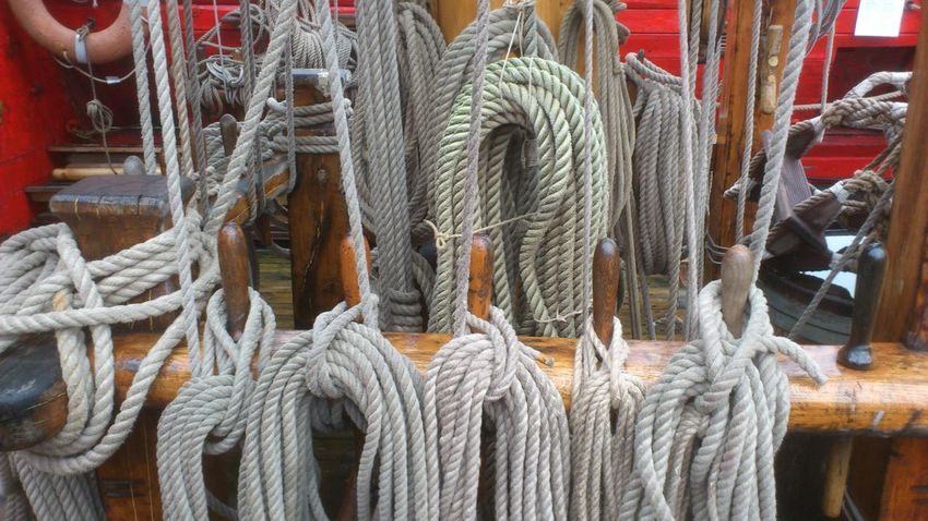 Three-master Ropes Sailboat Ship Dock Hellevoetsluis The Netherlands