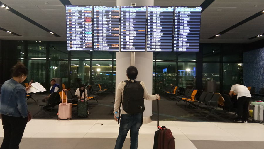 City Business Airport Standing Young Women Business Finance And Industry Luggage Time Journey Arrival