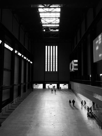 The City Light TateModern London Black & White People And Places Building Indoors  Men Lifestyles Real People Women Day Architecture Place Of Heart