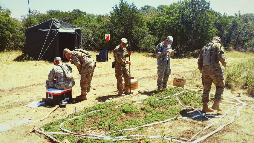 Field Army Hooah!!! Working Hard Blue Sky Green Grass Planning Day Planner Combat Armyboy Us Military