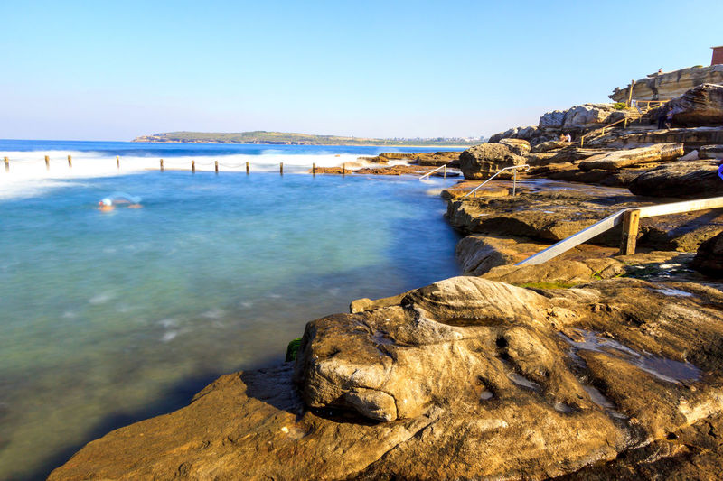 Slow down capture of the Mahon Rock Pool, with smooth waves and water Swimming Beauty In Nature Blue Clear Sky Cliff Day Mahon Pool Mountain Nature No People Outdoors Pool Rock Rock - Object Rock Pools Scenics Sea Sky Swimming Pool Tranquil Scene Tranquility Travel Destinations Water