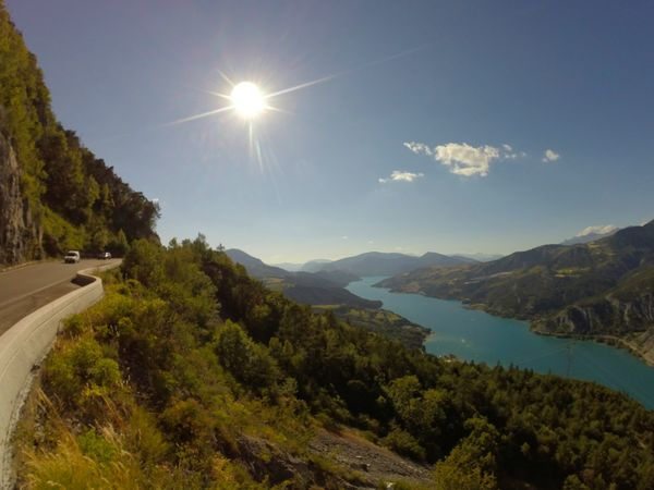 Lake Water Gopro Hero 3+ Enjoying The Sun The Nature Of Beauty Sun Road Water Tree Tranquil Scene Sun Transportation Mountain Scenics Lake Country Road Sunbeam Tranquility Non-urban Scene The Way Forward Footpath Curve Nature Solitude