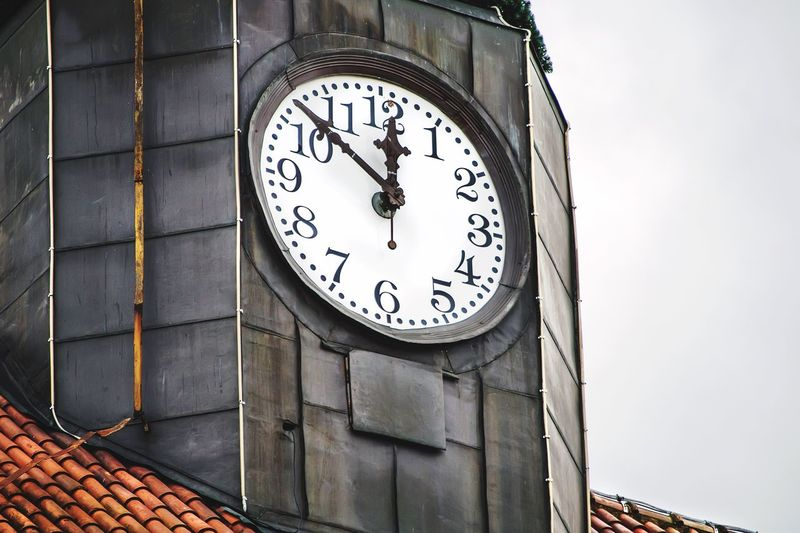 Close-up of clock tower