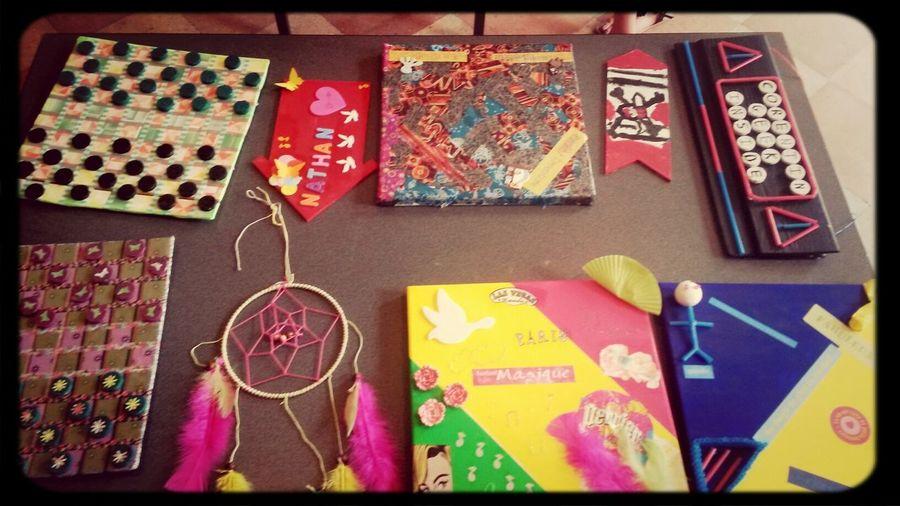 Production du jour avec 5 élèves de 7 à 18 ans !!! Creation Atelier Attrape Reve Home Deco creeadom
