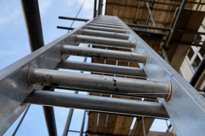 Close-up Focus On Foreground Industry Ladder Low Angle View Metal No People Outdoors