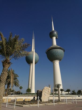 Kuwait Towers No People Travel Destinations Architecture Tourism Clear Sky Landmark Cultures Travel Dome Scenics Cityscape
