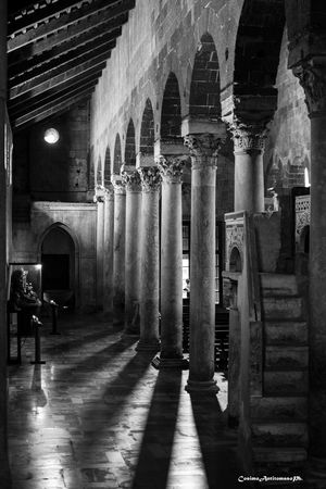 Casertavecchia - La cattedrale Arcade Arch Architectural Column Architecture Belief Building Built Structure Colonnade Corridor History Illuminated In A Row Indoors  No People Place Of Worship Religion Spirituality The Past Travel Destinations