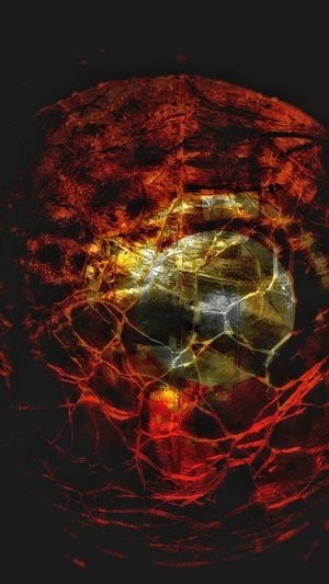 Overlay Editing EyeEmNewHere Backgrounds Glass - Material Abstract Photography Abstract Otherworldly Crystal Ball Red Fire Red No People Black Background Close-up Refraction Fragility Indoors  Galaxy Space