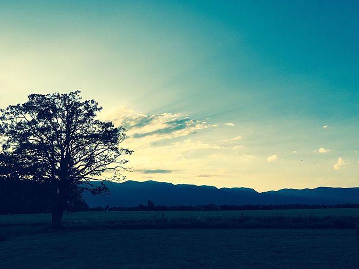Paysage Montagne Coucher De Soleil Été 20:33 Jura