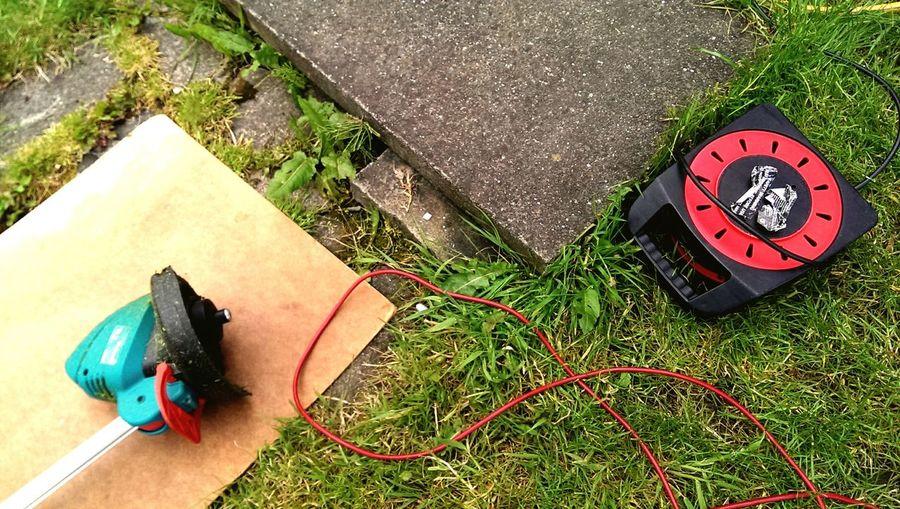 Hard at work in the garden today Garden England Uk Summertime Manchester Tools Strimmer Grass Grass Cutting Cuttings #garden