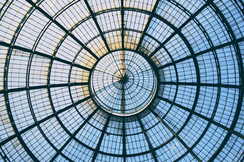Pattern Full Frame Architecture Backgrounds Built Structure Indoors  No People Modern Low Angle View Day Sky Milano Italy