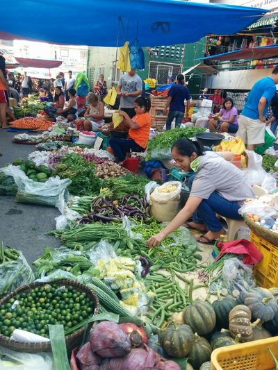 Market Day Laoag City Ilocos Norte, Philippines  Vegetables Vendors Market