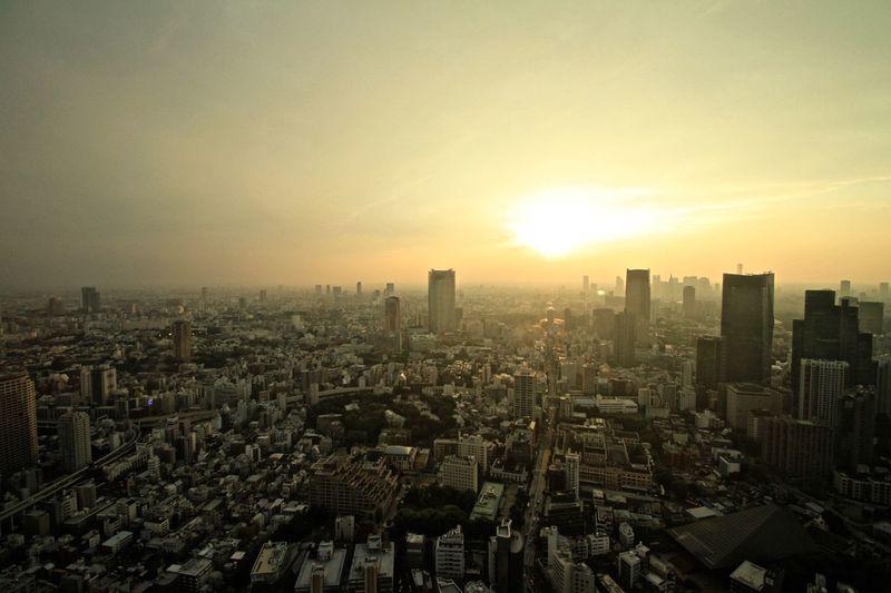 東京タワーからの眺め 六本木方面 ViewfromTokyoTower Roppongihills Tokyomidtown Wideview