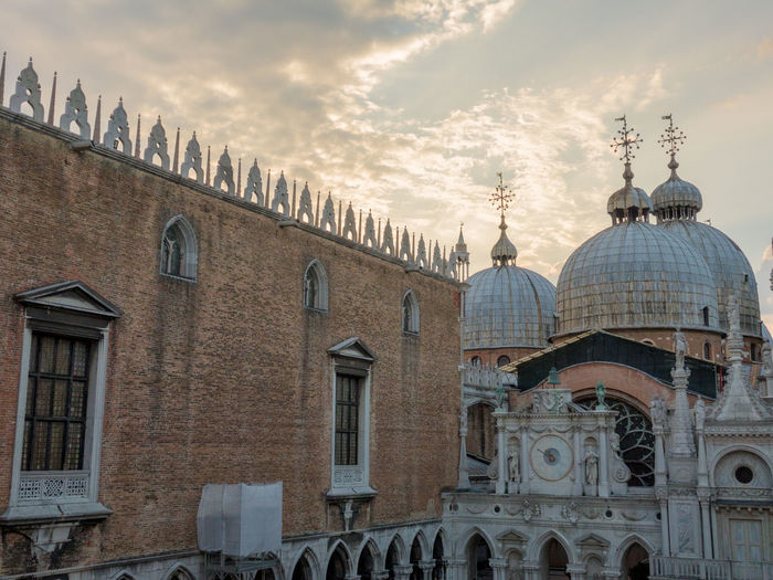 A Day in Venice Architecture Building Exterior Cloudy Skies Doges Palace Dome History No People St Marks Basilica Travel Destinations Travel Photography
