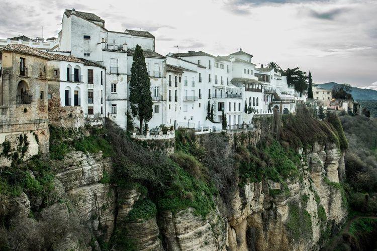 Cliffs Ronda Spain Building Exterior Built Structure Architecture Sky Building Nature City No People House