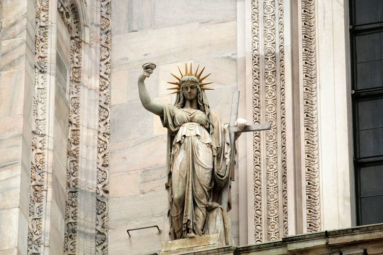 the realization of the statue of liberty was spilled from this sculpture .. Sculpture Statue History Architecture