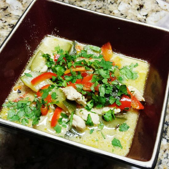Green Curry Chicken Thai Food Green Curry Green Curry Chicken Soup Coconut Yummy Homemade Delicious