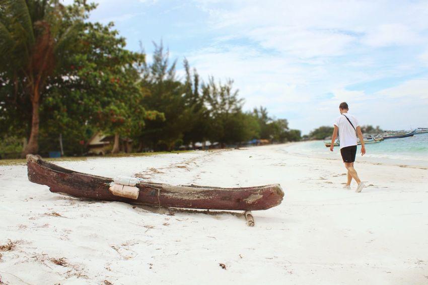 Belitung island Full Length Land Water Cloud - Sky Day Sand Beauty In Nature Men