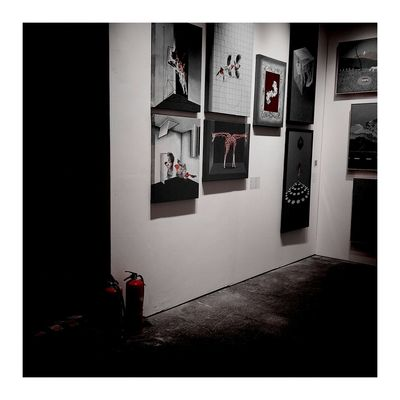 Naight Lights Red West Bank Young Art Fair 2017 Photograph