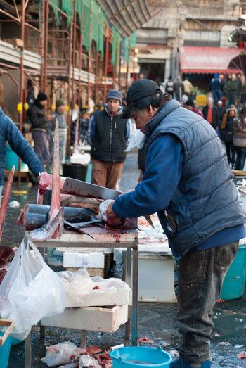 Catania Fish Mercato Del Pesce Pesce Pescefresco Pescespada Pescheria Pescivendolo Sicily