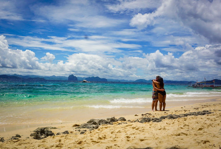 """""""Interracial Love"""" Eyeem Philippines Palawan Travel Destinations Philippines Travel Photography Sony Paradise A6000 Island Clouds Nature Love Partner Forever Stolenshot Water Sea Full Length Sand Blue Summer Standing Human Back Sky EyeEmNewHere Summer Exploratorium"""